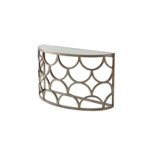 Connaught Console Table - Brushed Pewter