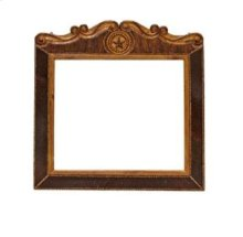 Mirror W/Rope,Star & Cowhide