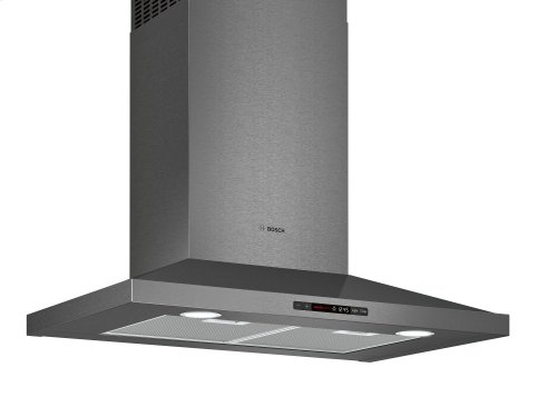 "800 Series 30"" Pyramid Canopy Chimney Hood, 600 CFM HCP80641UC Black Stainless Steel"