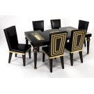 """Dining Table with Glass 76x43x31"""" Product Image"""