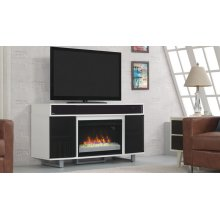 """The Enterprise TV stand with sound bar for TVs up to 60"""" and 75 lbs. featur..."""