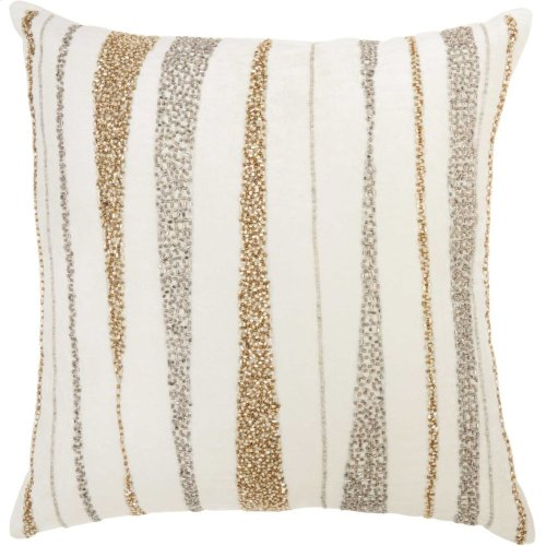"Luminescence E1057 Ivory 18"" X 18"" Throw Pillows"
