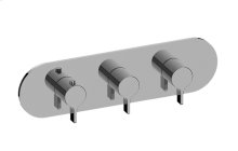 Terra M-Series Valve Horizontal Trim with Three Handles