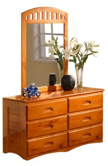 Honey Dresser & Mirror