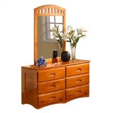 Honey Dresser & Mirror