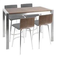 Mason Counter Set - Stainless Steel, Walnut Wood, Grey Pu