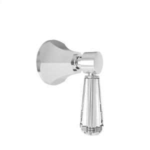Matte White Diverter/Flow Control Handle