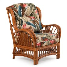 Rattan High Back Chair Pecan Glaze Satin 4405