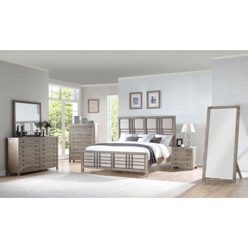 Emerald Home B562-12-k Briar Crest King Bed, Cappuccino Gray