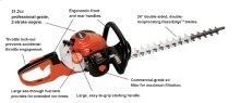 "HC-155 24"" Double-Sided Hedge Trimmer"