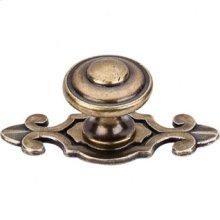 Canterbury Knob 1 1/4 Inch w/Backplate - German Bronze