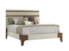 Queen Mandarin Upholstered Panel Bed