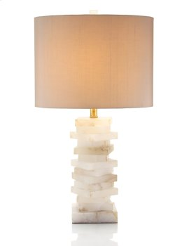 Alabaster Block Lamp