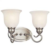 Tanglewood 2 Light LED Vanity Light with LED Bulbs Brushed Nickel