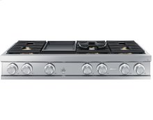 """48"""" Gas Rangetop, Graphite Stainless Steel, Natural Gas"""