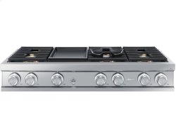 "48"" Gas Rangetop, Stainless Steel, Liquid Propane/High Altitude"