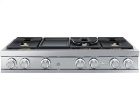 """48"""" Gas Rangetop, Stainless Steel, Natural Gas/High Altitude"""