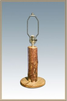 Glacier Country Log Table Lamp