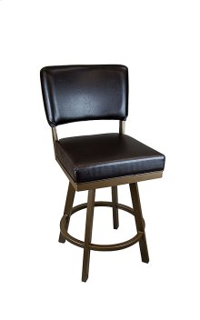 Miami BSS505H26S Stainless Steel Swivel Back No Arms Bar Stool