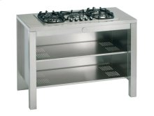 Stainless 48 Cabinet with Shelves, Cut-out
