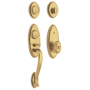 Non-Lacquered Brass Landon Two-Point Lock Handleset