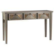 Bayshore Console Table - Distressed Graywash