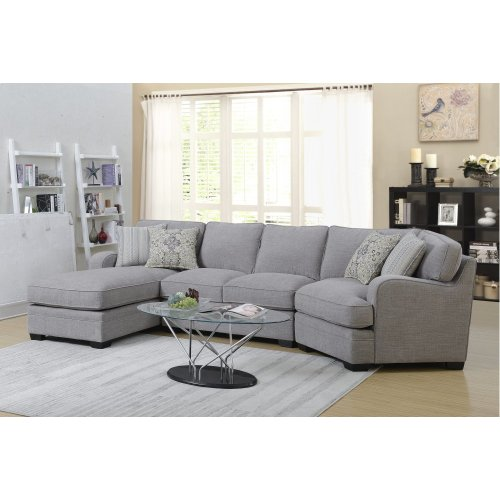 Emerald Home Analiese Sectional Linen Gray U4315-11-12-16-03-k