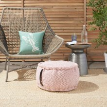 "Outdoor Pillow As220 Coral 20"" X 20"" X 12"" Pouf"