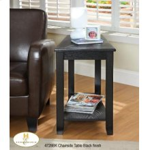 Chairside Table Black