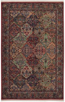 Multicolor Panel Kirman Multi Rectangle 4ft 3in X 6ft