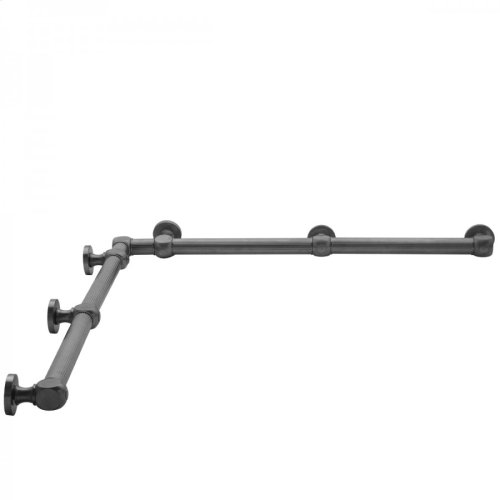 "Satin Nickel - G71 36"" x 48"" Inside Corner Grab Bar"