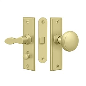 Storm Door Latch, Square, Mortise Lock - Polished Brass