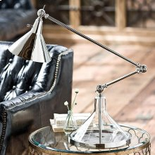 Glass Funnel Beaker Lamp (nickel)