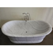 Old World Bathtub Luna Bianca Marble