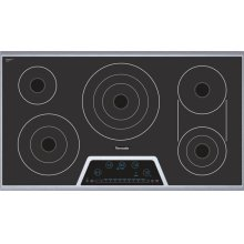 """Masterpiece Deluxe 36"""" Electric Cooktop with Touch Control and Bridge Element CET366FS"""