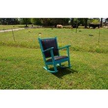 The Chuck Wagon Pioneer Turquoise Rocker