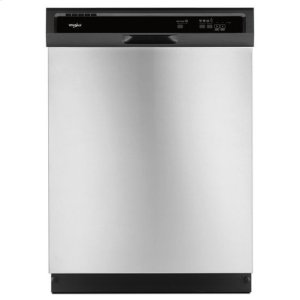 WhirlpoolWhirlpool® Heavy-Duty Dishwasher with 1-Hour Wash Cycle - Black-on-Stainless