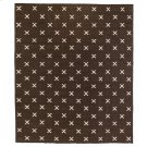 9'x12' Size Dark Brown Cross Rug Product Image
