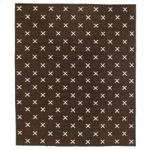 9'x12' Size Dark Brown Cross Rug