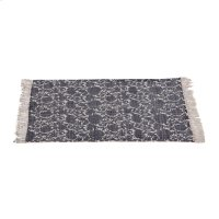 Block Print Indigo Floral 2'x3' Rug (Each One Will Vary). Product Image