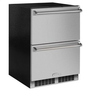 Marvel24-In Professional Built-In Refrigerated Drawers with Door Style - Stainless Steel, Door Swing - Field Reversible