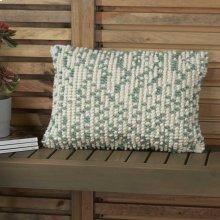 "Outdoor Pillows Ih013 Aqua 14"" X 20"" Throw Pillows"