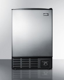 Compact Manual Defrost Icemaker for Built-in Use Under Counters