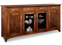 Glengarry Sideboard w/2 Wood Doors & 2/Center Glass Door & 4/Drws & 2/Wood & Glass Adjust. Product Image