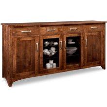 Glengarry Sideboard w/2 Wood Doors & 2/Center Glass Door & 4/Drws & 2/Wood & Glass Adjust.