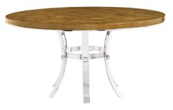 Soho Luxe Round Dining Table and Metal Base in Soho Luxe Dark Caramel (368)