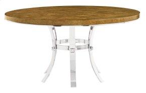 Soho Luxe Round Dining Table in Soho Luxe Dark Caramel (368)