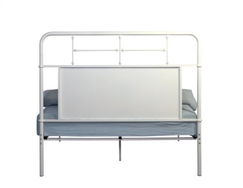 Emerald Home Fairfield Metal Bed Snowdrop White B202-10hbfbrwht