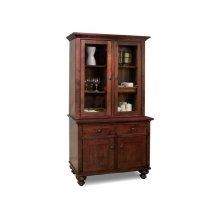 Georgetown Buffet&Hutch w/2 Wood & 2/Glass Doors & 2/Dwrs & Wood Gables & Wood Shelves