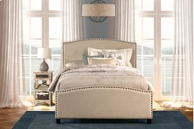 Kerstein Bed Set - Twin - Rails Included - Lt Taupe